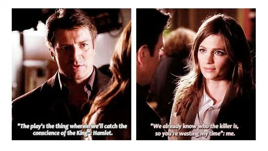 Castle quotes Shakespeare. Beckett quotes Beckett. Seems about right...