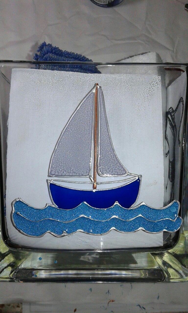 Tiny boat on vase painting on glass pinterest tiny boat on vase painting reviewsmspy