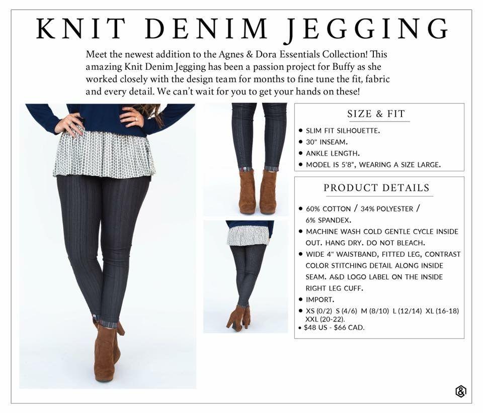 96702d5fa3830 Agnes & Dora Knit Denim Jegging Size Chart | Cute Style Ideas ...