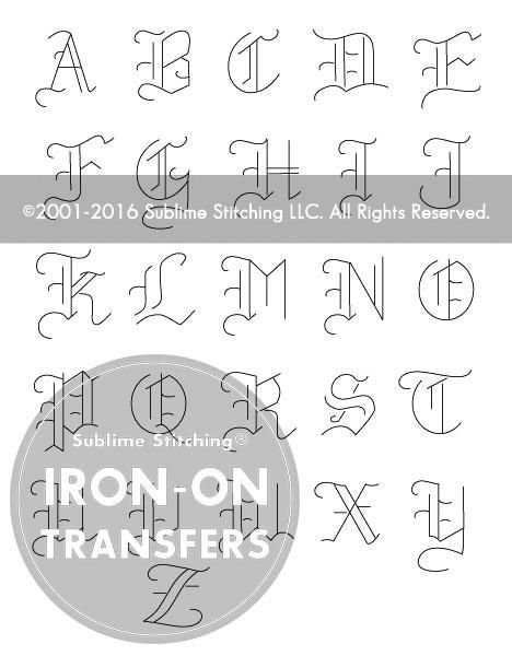 Small Old English Tattoo: SMALL PACK Embroidery Patterns