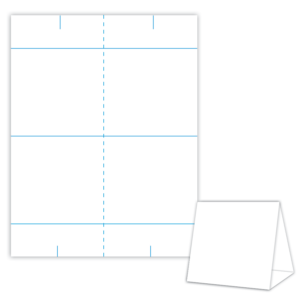 Table Tent Design Template Blank Table Tent   White   Cover Blanks/USA