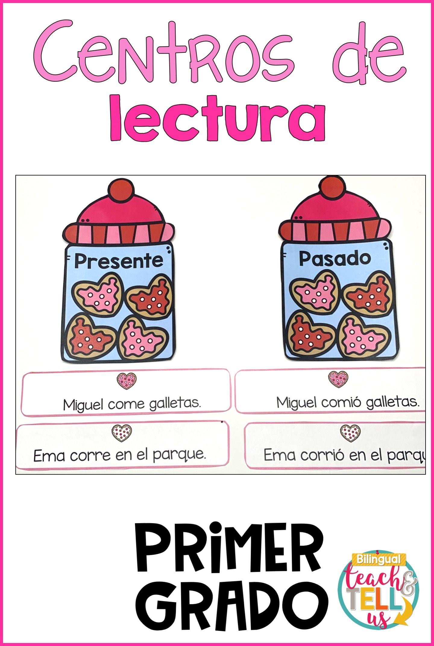First Grade Literacy Centers Spanish February Centros De