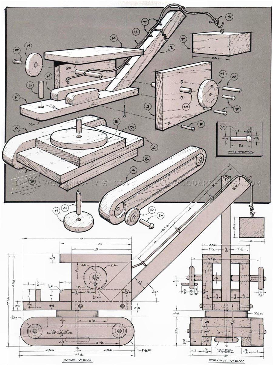 3037 Wooden Toy Crane Plans Wooden Toy Plans Wooden Toys Plans