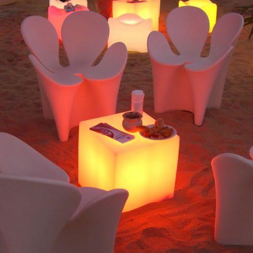 Cubes Lumineux Led 45 X 45 Cm Nirvana - Cubes Lumineux Sans Fil