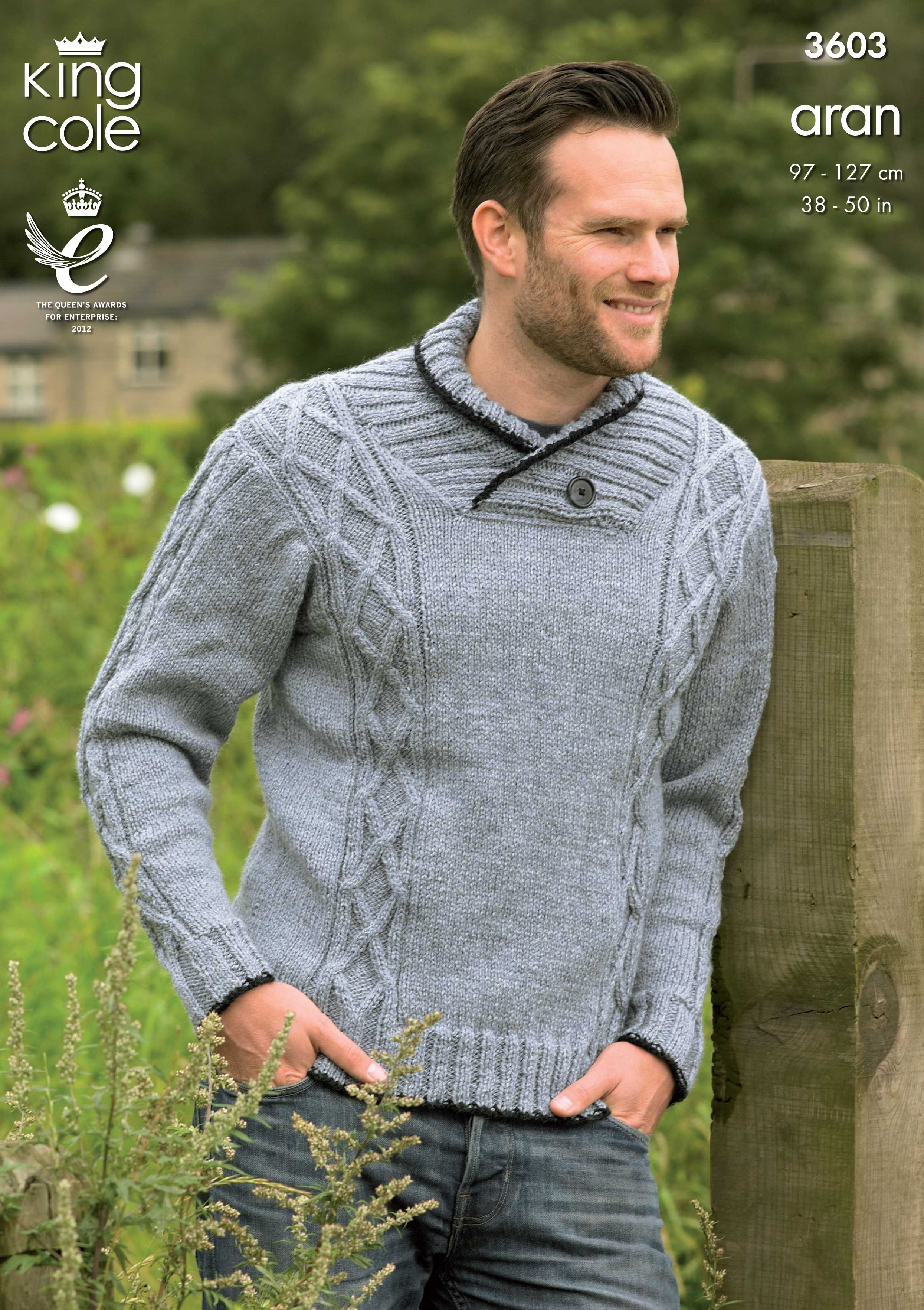 Sweater and Gilet Knitted in Big Value Aran - King Cole   PULLOVERES ...
