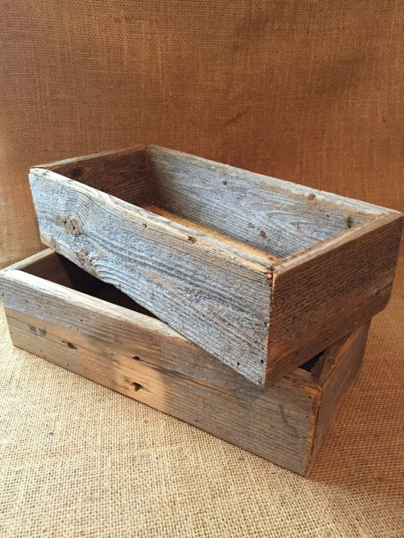 Rustic Wood Box Repurposed Wood Box Wooden Box Wedding Decor Magnificent Decorating Wooden Boxes