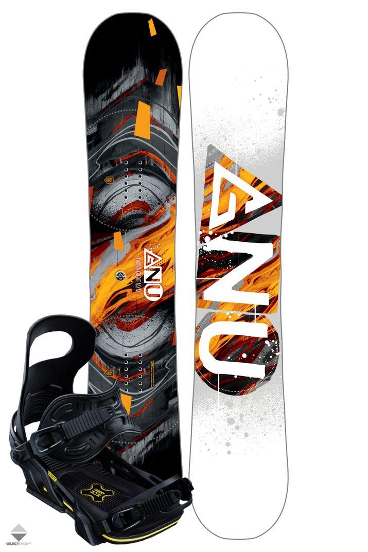 Komplet Snowboardowy Deska Wiazania Gnu Carbon Credit Asym 150 Orange Gnu Carbon Snowboard