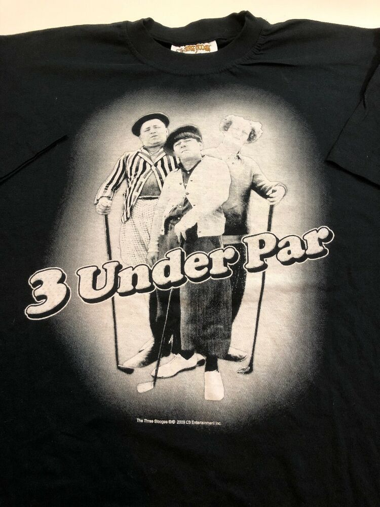 New The Three Stooges T Shirt 3 Under Par Men S Sz L Black White Golf Tee Nwt Thethreestooges Graphictee Casua Golf Tees American Shirts Mens Casual Outfits