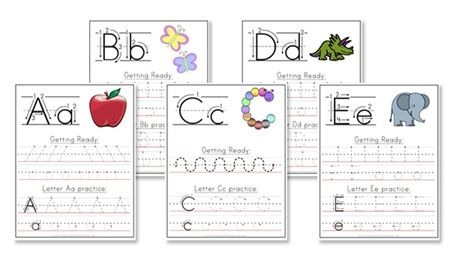 I love these free handwriting worksheets. Not only the