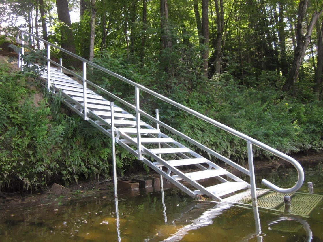 Best Aluminum Dock Stairs Outdoor Stairs Cottage Outdoor 640 x 480