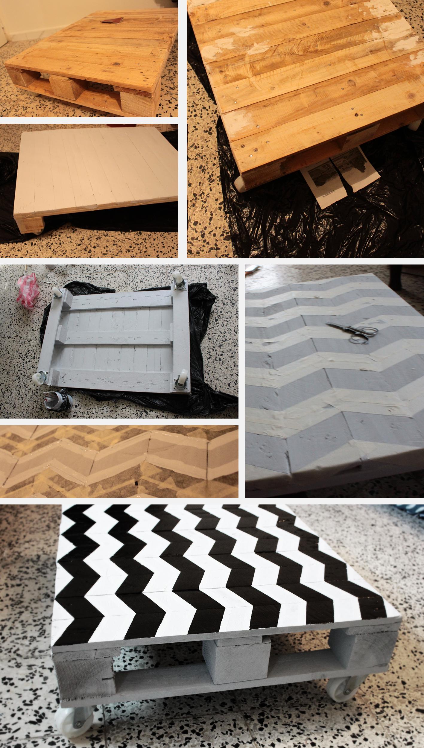 Table Basse/Coffee Table #table_basse #coffee_table #deco #palette #bois #pallet #wood #ecolo #bricolage #DIY