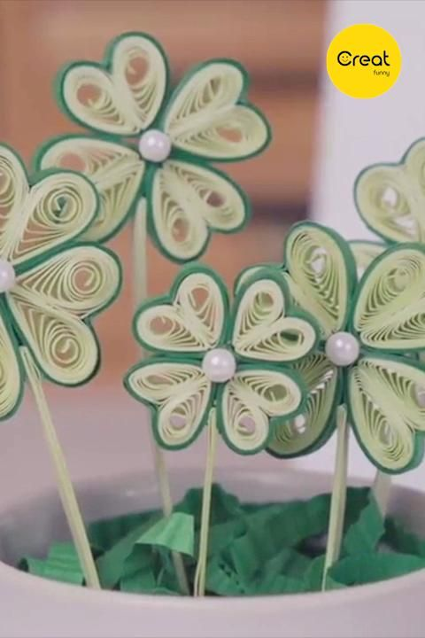 Photo of DIY – Quilling Cute Clover  Completed in 5 Minutes, Creative Cute Handicrafts Flowers, Home Decor