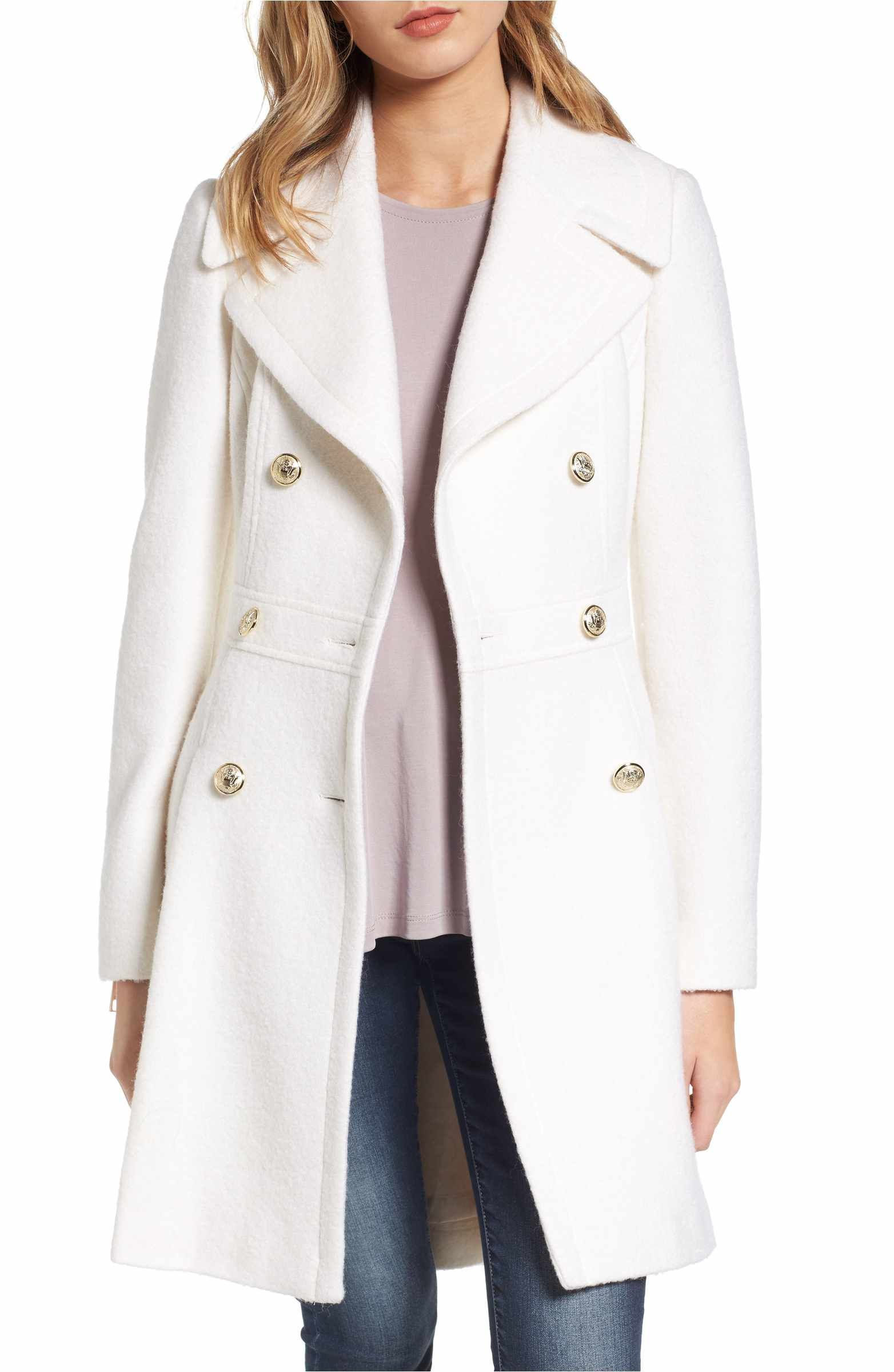 Guess Double Breasted Wool Blend Coat Regular Petite Nordstrom Wool Blend Coat Nordstrom Coats Coat [ 2400 x 1564 Pixel ]