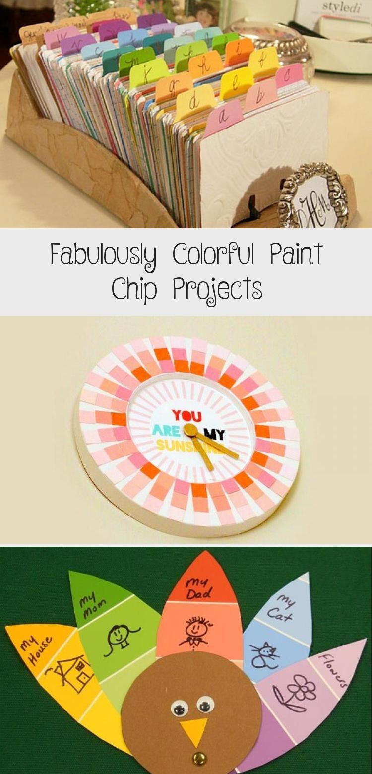 Photo of Easily make these colorful projects with paint chips! Colorful modern wreath ide…