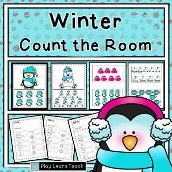 Winter Count the Room | Kindergarten special education, Recording ...