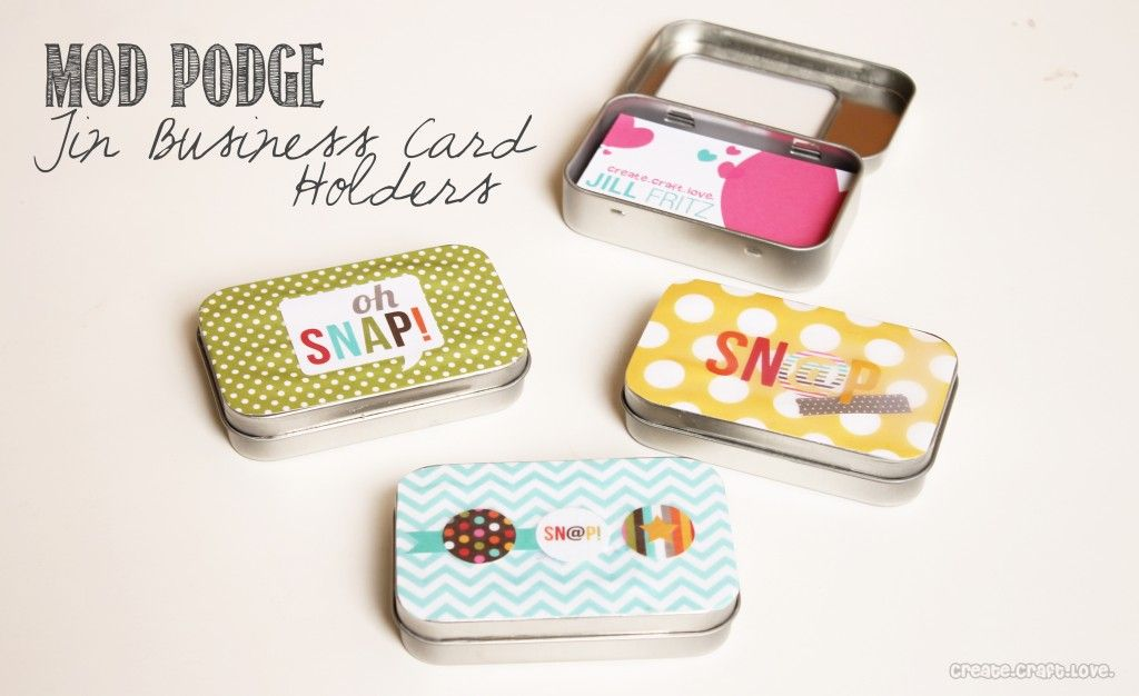 Mod Podge Gift Tags | Business card holders, Business cards and ...