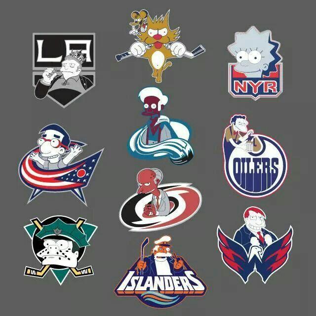 Nhl Hockey Team Logos Simpson Ized Hockey Kids Hockey Logos Nhl Logos