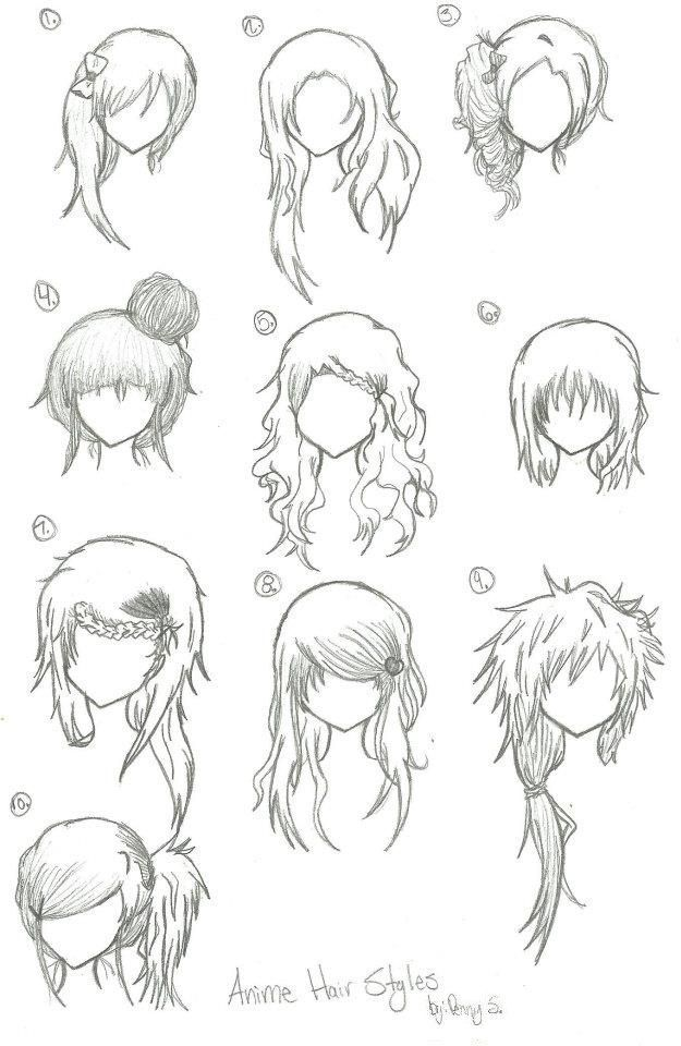 Anime Hairstyles On Pinterest Anime Hair Anime Eyes And Manga Manga Hair Anime Hair Manga Drawing
