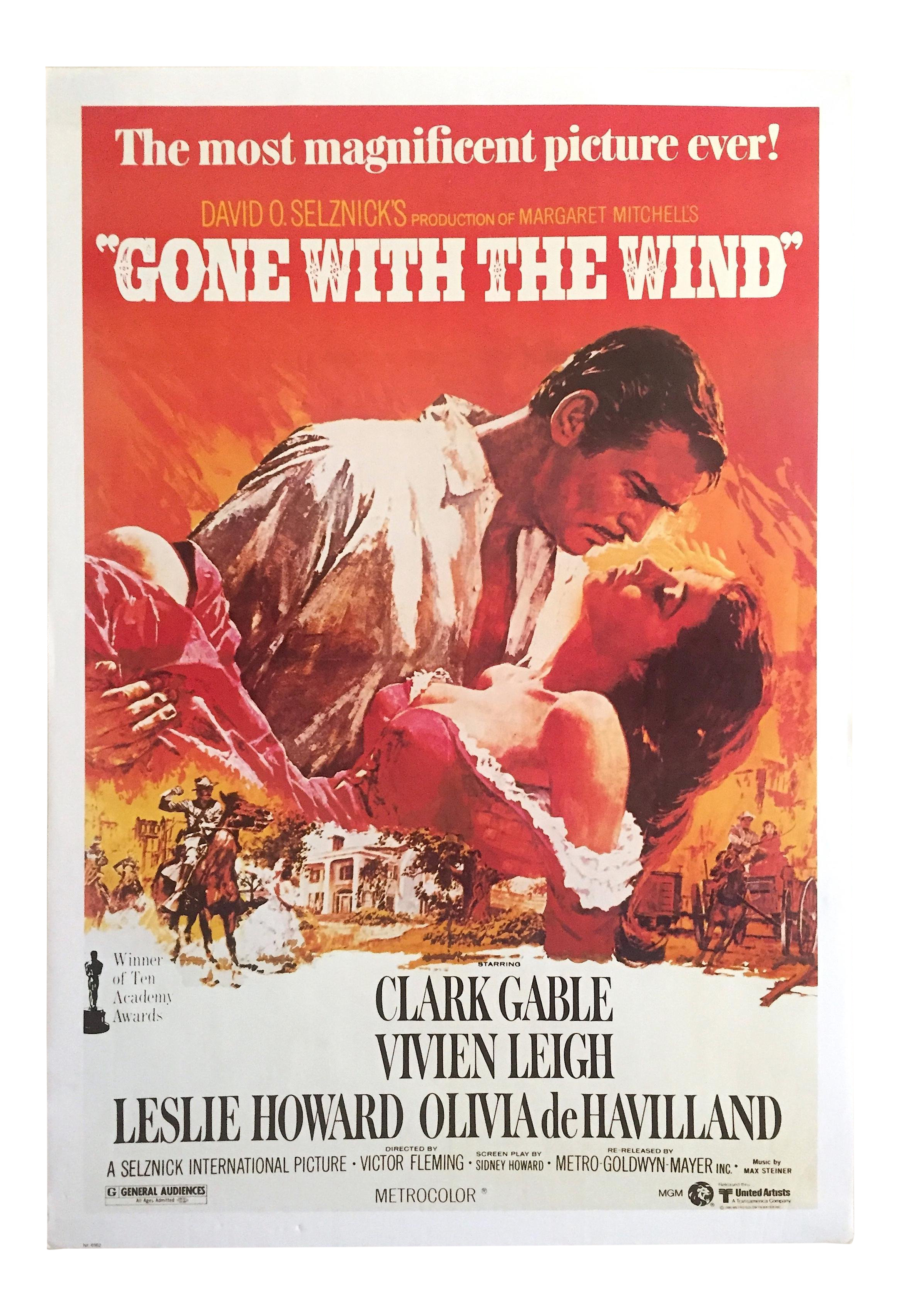 Rare Vintage 1980 Collector S Iconic Movie Poster Gone With The Wind 1939 Iconic Movie Posters Classic Films Posters Original Movie Posters