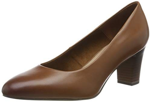 Tamaris Damen 1 1 22435 23 Pumps, Braun (Cognac 305), 38 EU