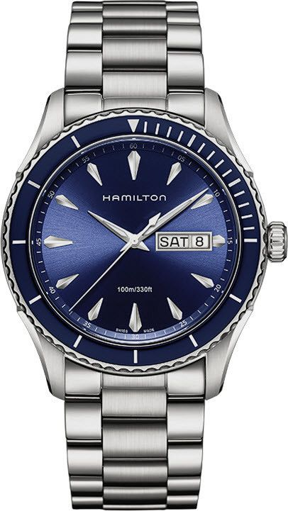 fabbc7f0bb9 Hamilton Watch American Classic Jazzmaster Seaview  bezel-unidirectional   bracelet-strap-steel  brand-hamilton  case-material-steel  case-width-42mm  ...