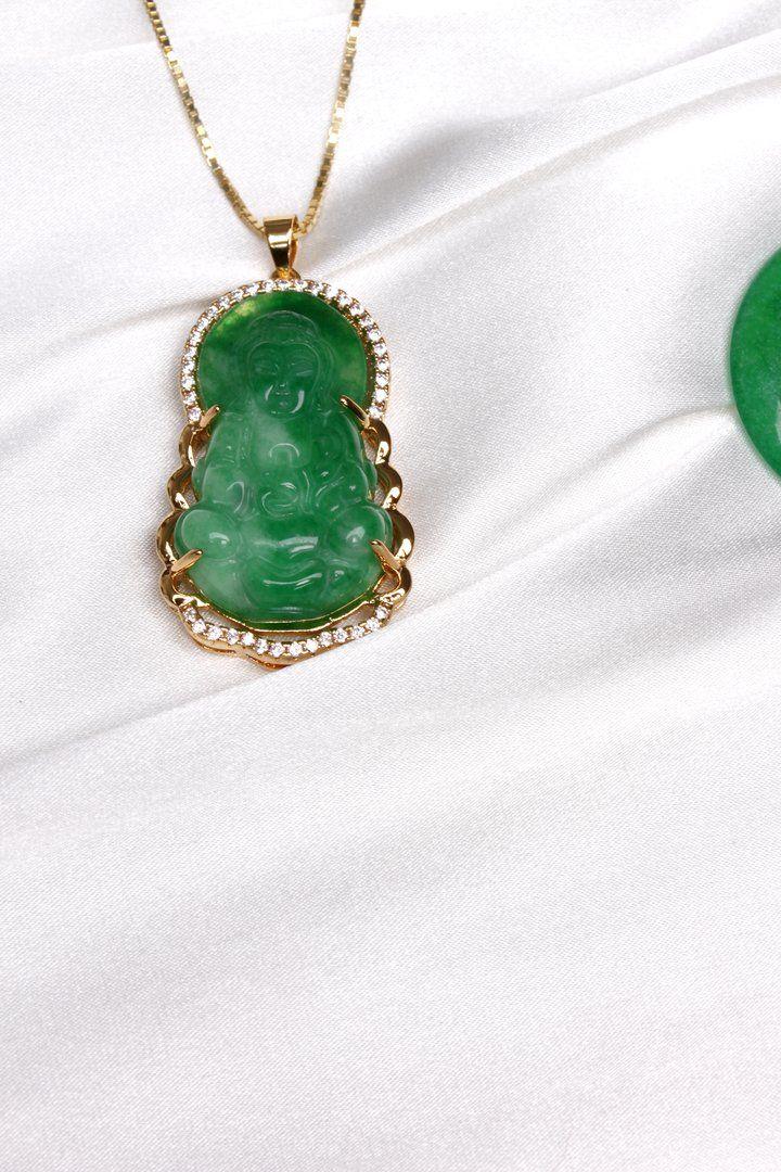 MURAKAMI FLOWER Buddha necklace gold, Buddha necklace