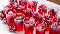 Cranberry Jell-O Shots #jelloshotrecipes