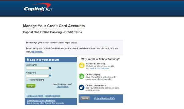 Capital One Credit Card Online Payment Login >> Capital One Credit Card Login To Access Online Account Technology