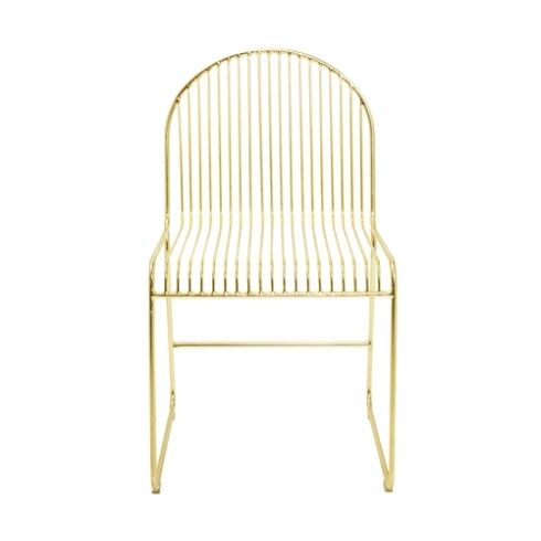 Bloomingville Friend Dining Chair In Gold Metal Dining Chairs