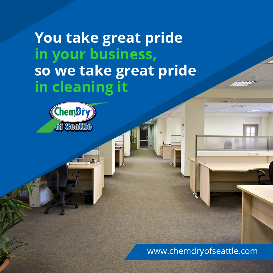 Maintain a professional environment and reputation with superior commercial Carpet cleaning! Find out more at  #ChemDryofSeattle #CommercialCarpetCleaning