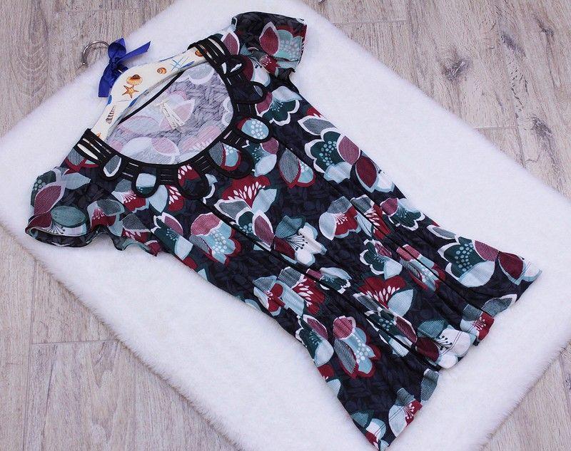 Next Bluzka Wiazana Z Tylu Wzor Na Grafitowym Tle Falbanki Rozmiar 40 L Boho Shorts Women Womens Shorts
