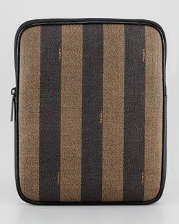 L00LD Fendi Pequin Striped Canvas iPad Case