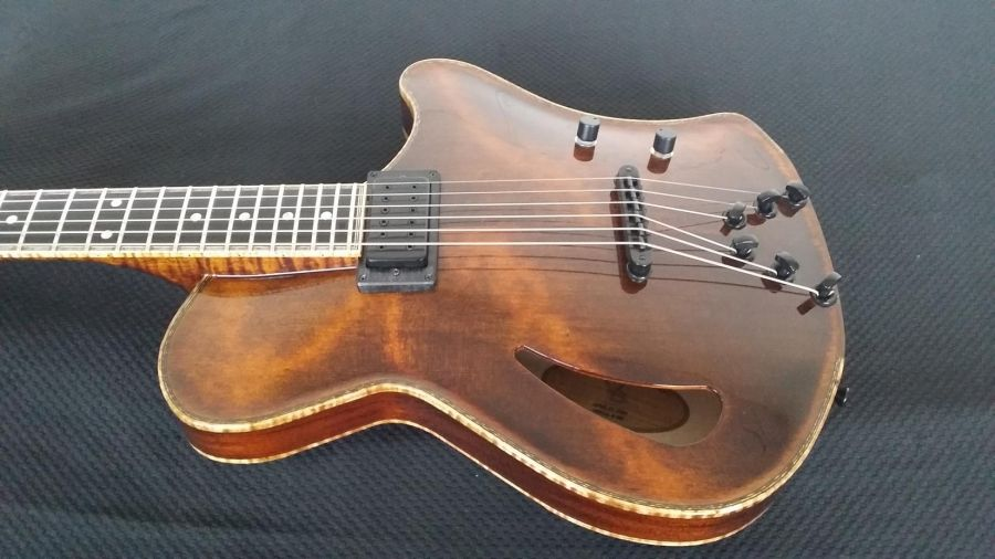 Photo Finals! Special Ergonomic archtop guitar for Dave Mosick!