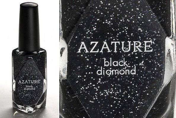 Azature Black Diamond nail polish - For the rich and famous.  Has real black diamonds in it and retails for $250,000....not kidding