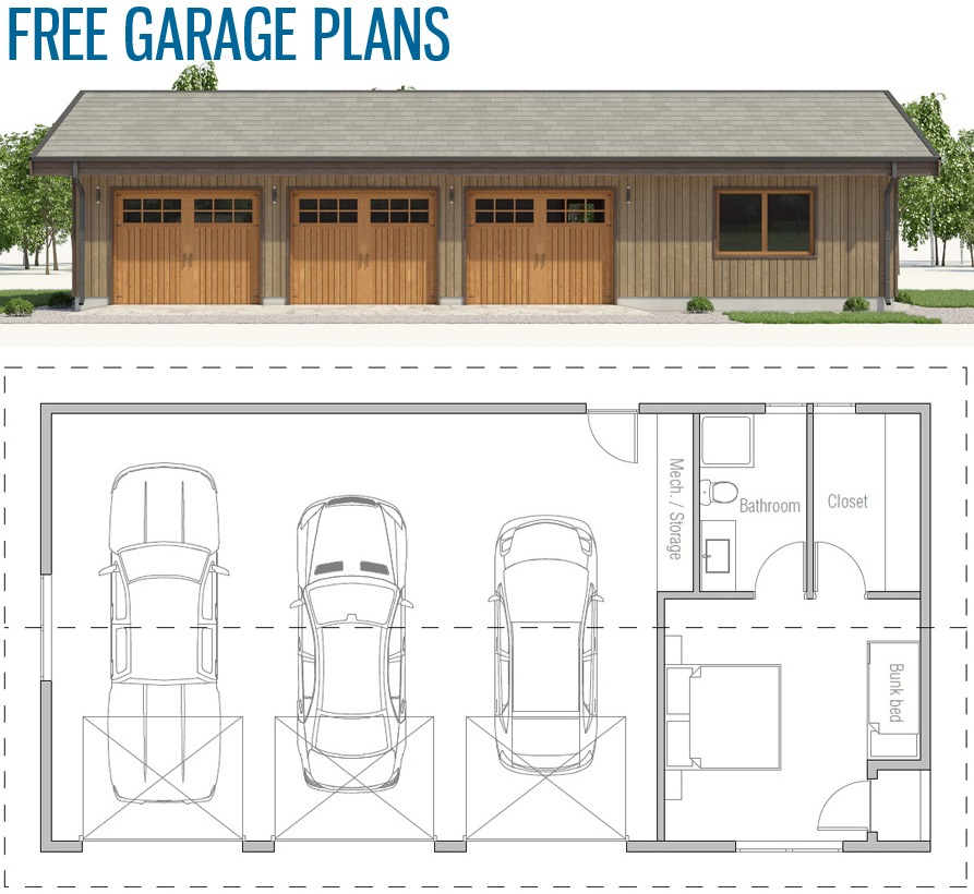Garage Plan G812 In 2020 Garage House Plans Container House Plans Garage Floor Plans