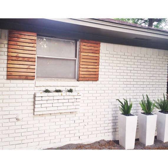 Modern wood slat house shutters pair Wood slats Woods and Modern