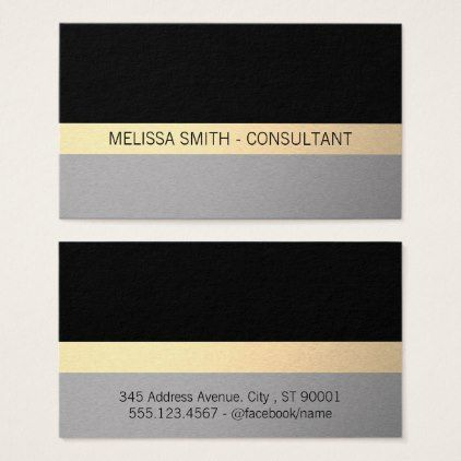 Contemporary Professional Business Card  Simple Clear Clean