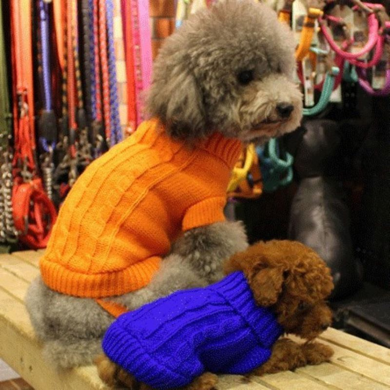 1 48 Warm Small Dog Clothes Pet Winter Sweater Knitwear Puppy