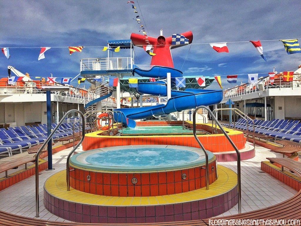 Lido Deck Pool Hot Tub Area Carnival Cruise Elation Ship Details Decor Dining Menu And