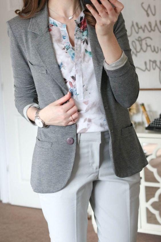 el más nuevo 9d99c fa1e6 Outfits con blazer gris | Ropa, Ropa formal y Arreglo con ...