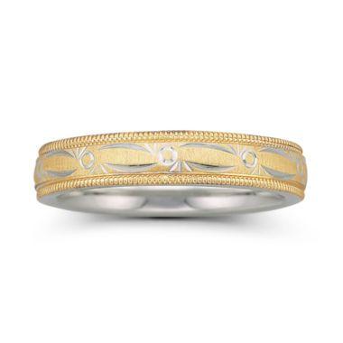 BEST VALUE Womens 4mm 10K Gold Sterling Silver Bonded Wedding