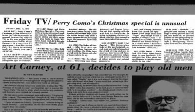 Christmas TV 12-13-79 Perry Como, Donny & Marie, Grand Ole Oprey - Index Journal