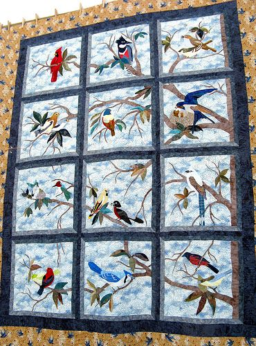 This Was A Favorite Quilt Of Mine Lovely Birds In Window
