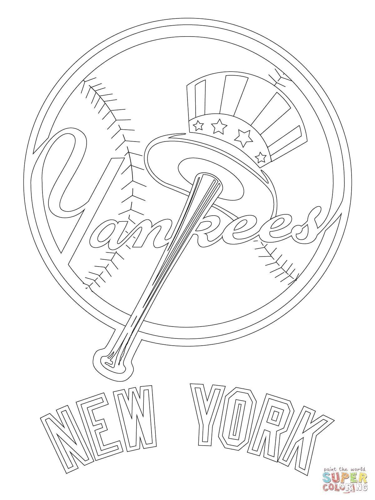 New York Yankees Coloring Lovely New Coloring Pages Yankees Baseball Coloring Pages New York Yankees Logo Yankees Logo