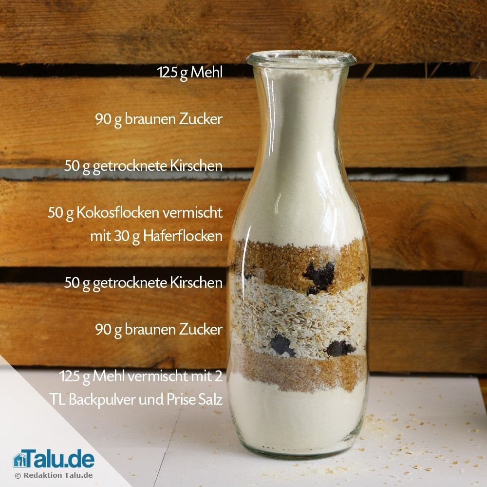 Backmischung im Glas verschenken - 4 leckere Rezepte