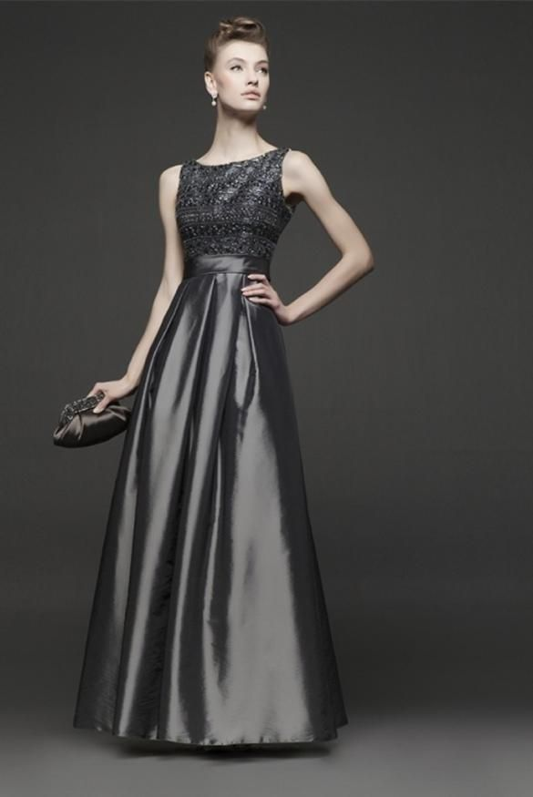 moda atractiva diseño unico calidad real vestidos de noche color gris plata - Buscar con Google ...
