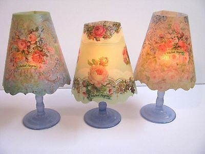 Original unique gift Michal Negrin vintage 9 wine glass lamp shades floral       eBay