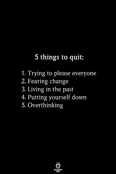 5 Things To Quit