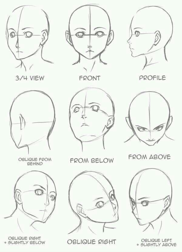 Face Position Art Drawings Sketches Drawing Tutorial Drawing Heads