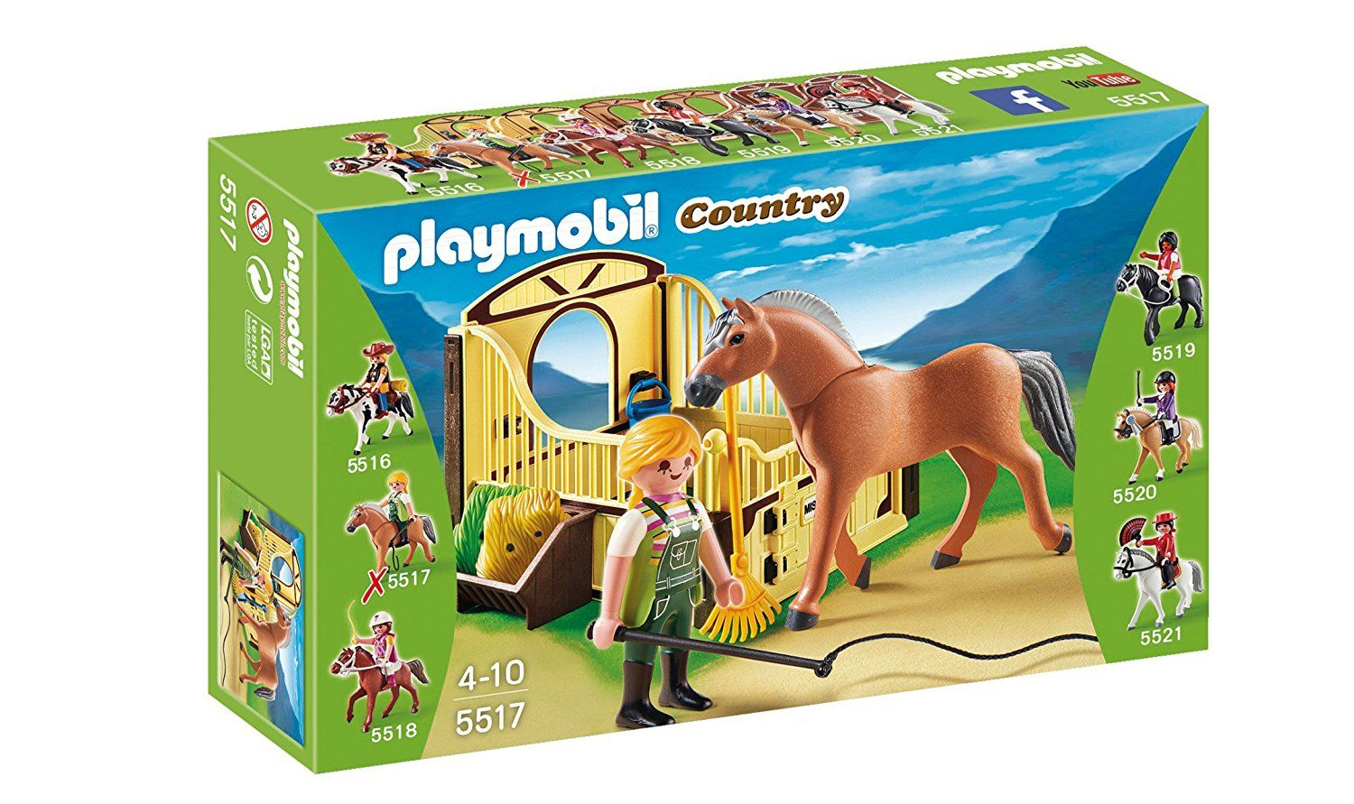 Amazon Com Playmobil Work Horse With Stall Play Set Toys Games Playmobil